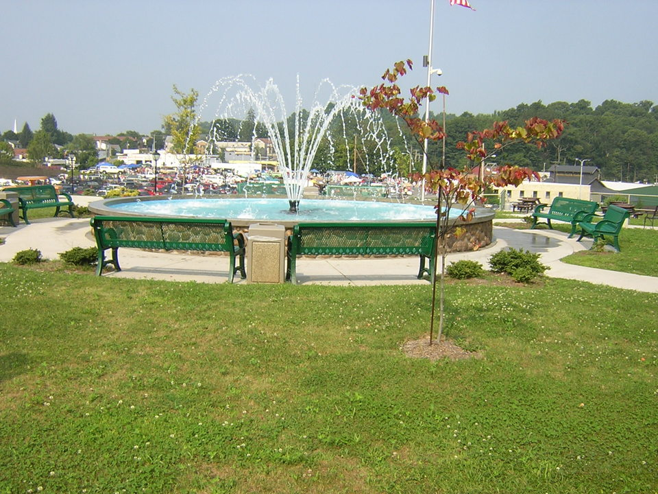 Beckley, WV : Fountain in Downtown