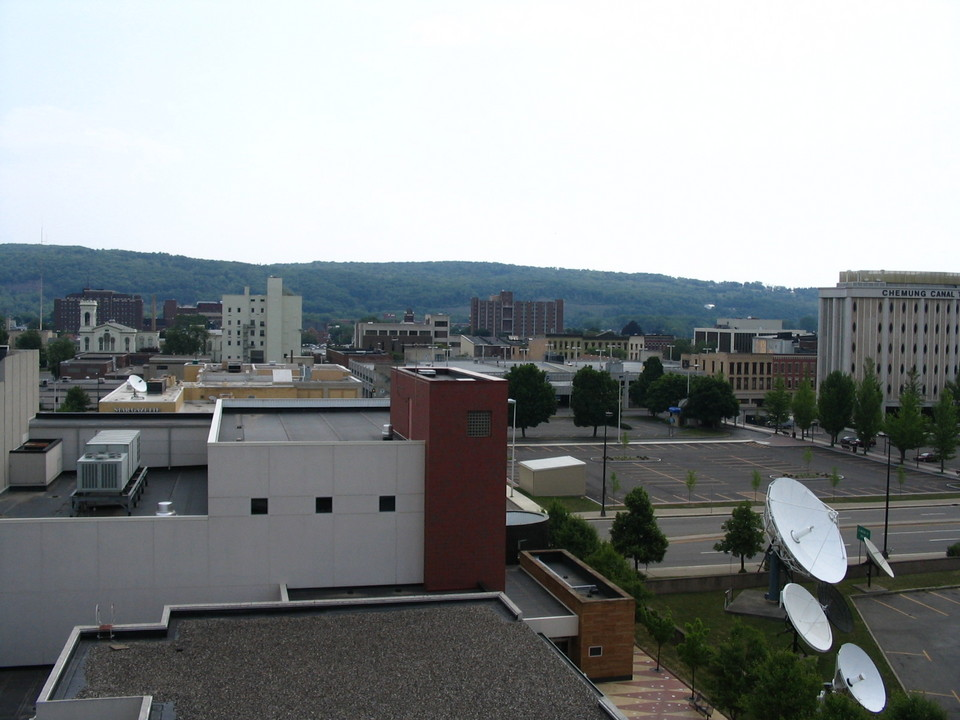 Elmira, NY : View of downtown from the parking garage