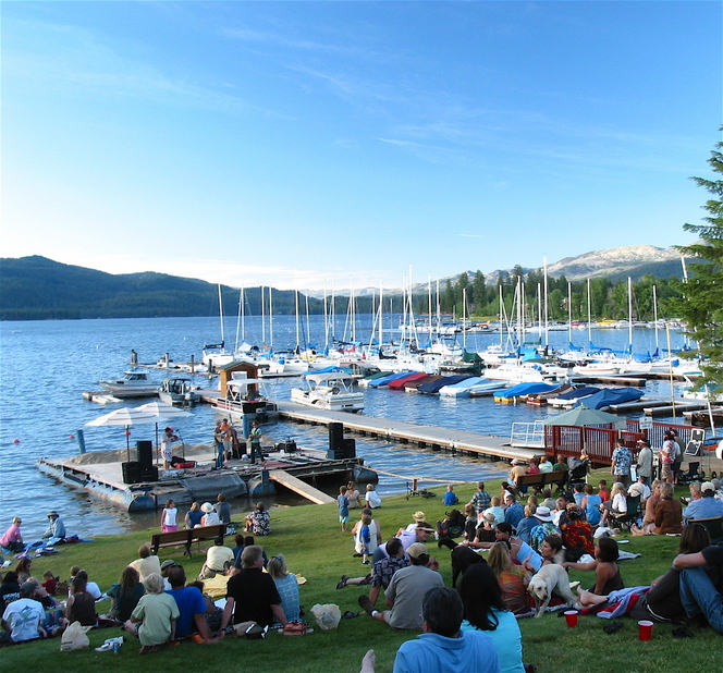 McCall, ID: Summer Music in the Park, downtown McCall, on Payette Lake