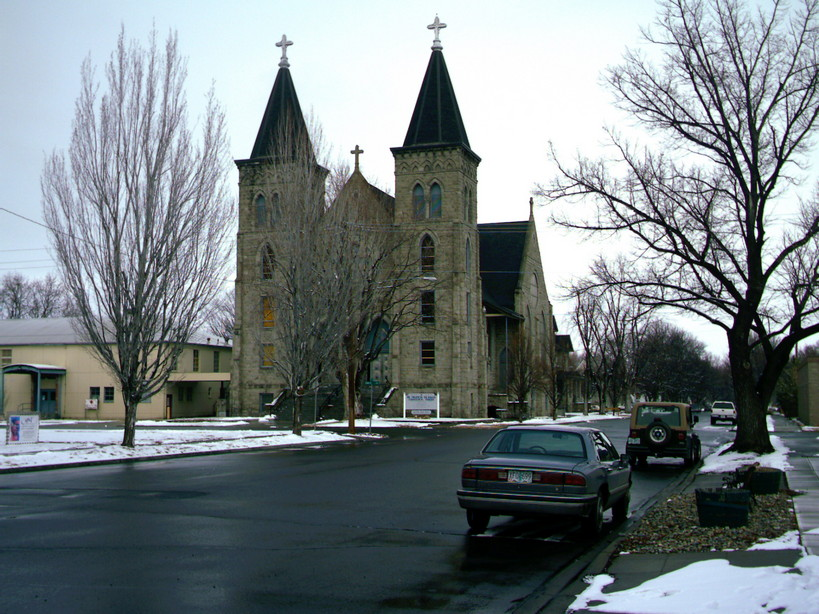 Baker City, OR: church in winter