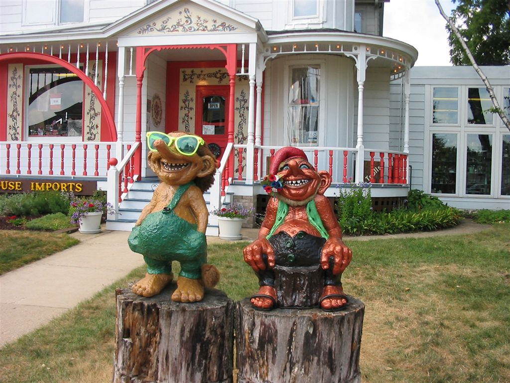 "Mount Horeb, WI: The ""Troll Capital of the World"", Main Street is lined with trolls."