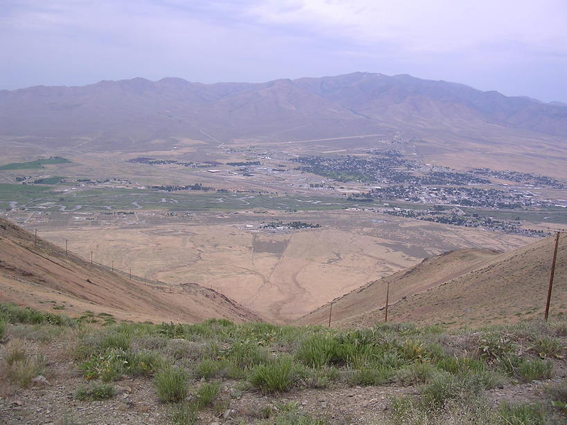 Winnemucca, NV : Looking down from Winnemucca mountain
