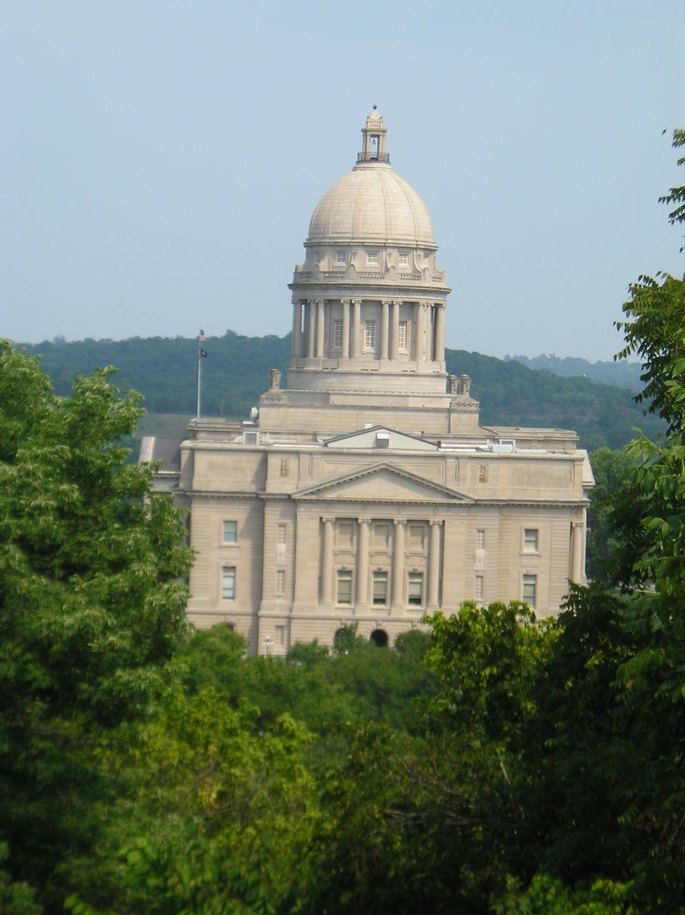 Frankfort, KY: A view of the Capitol
