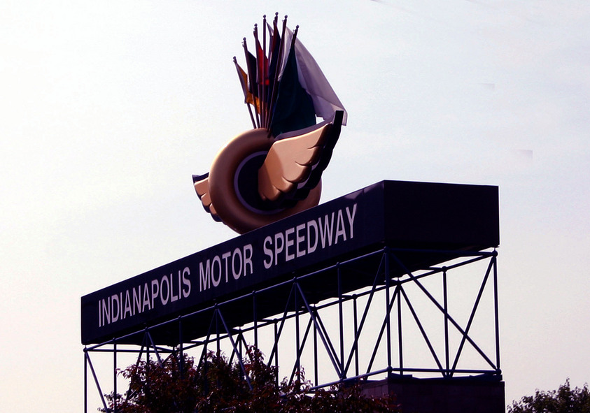 Indianapolis, IN : Speedway sign
