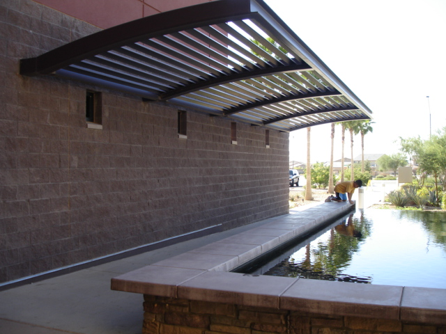 Avondale, AZ: Reflecting Pond at Town Hall