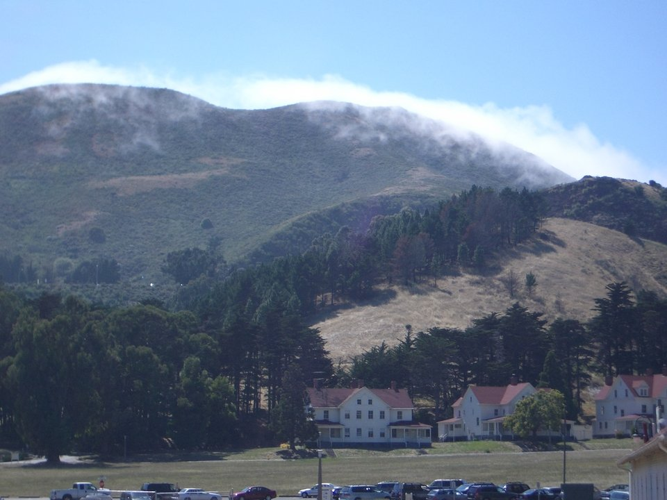 Sausalito, CA: View of Marin Headlands from Discovery Museum