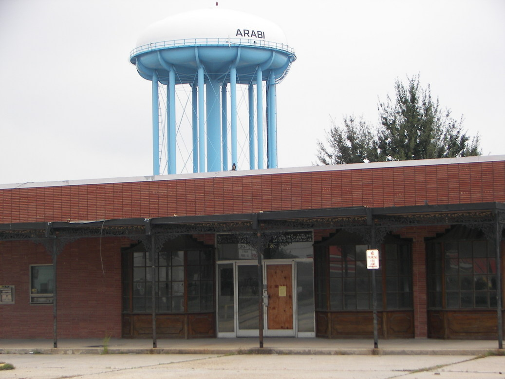 Arabi, LA: Arabi, water tower and what use to be the St. Bernard Bank