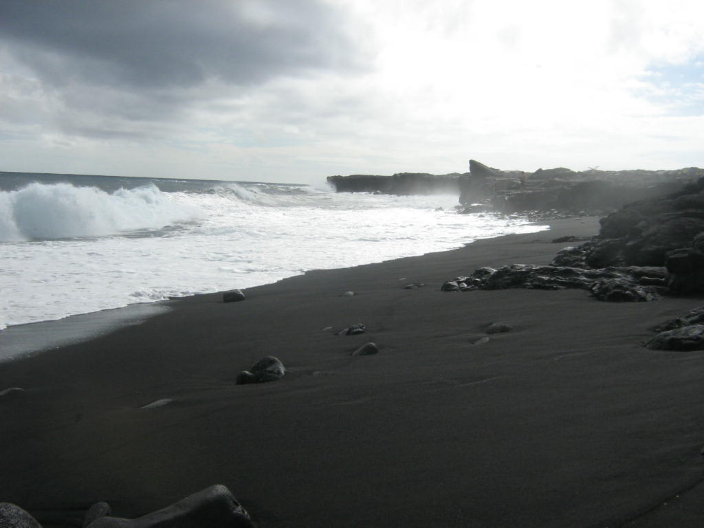 Hilo Hi Black Sand Beach Near Hilo Hawaii Photo