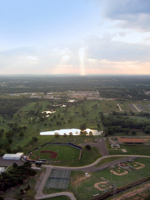 Seminole, OK: Seminole parks taken from a hot air balloon