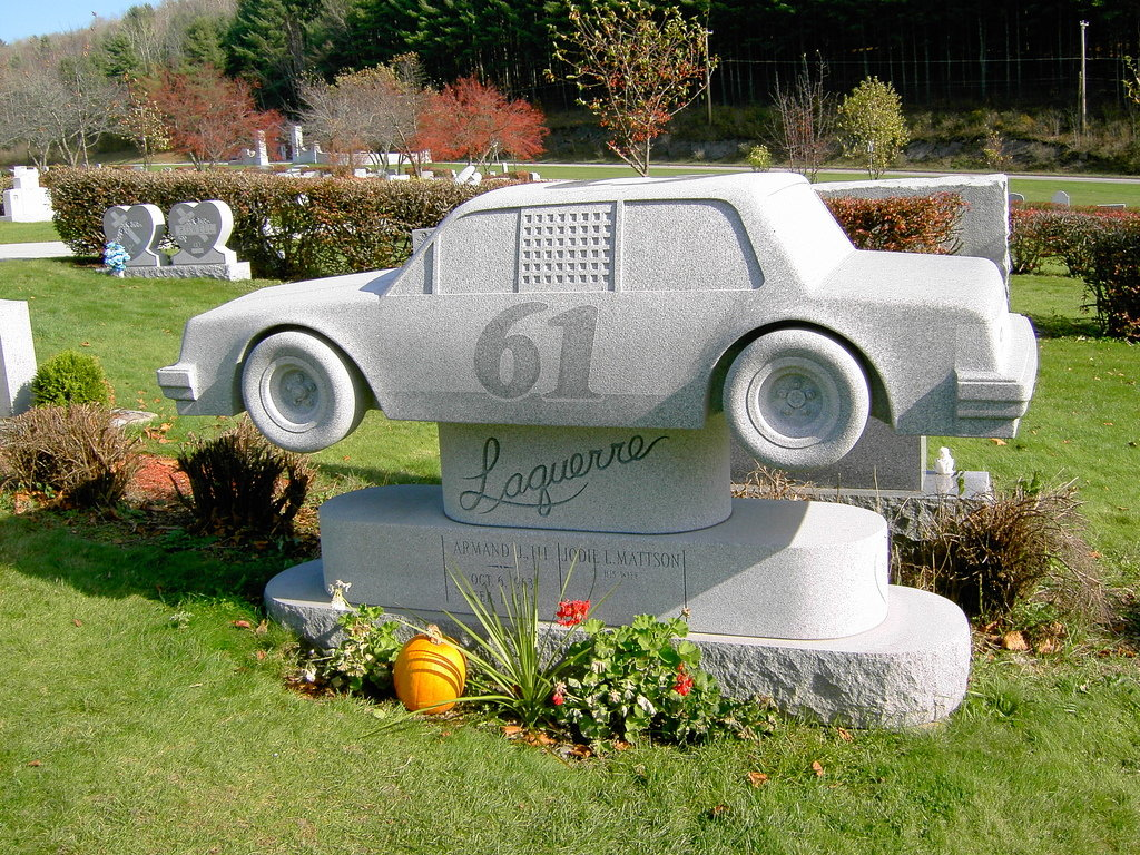 Barre, VT: Car Tombstone at Hope Cemetery