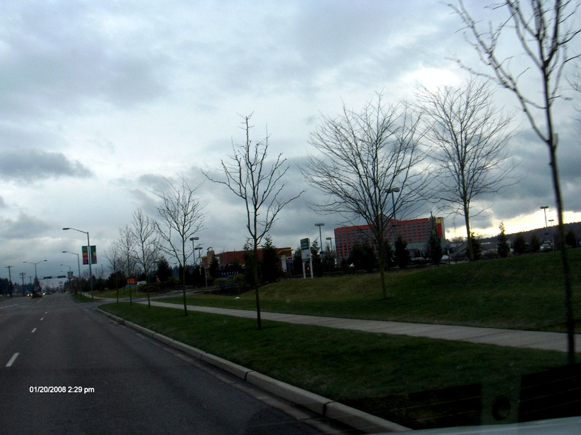 Tulalip, WA : Tulalip Resort & Casino from front of Seattle Premium Outlet Mall
