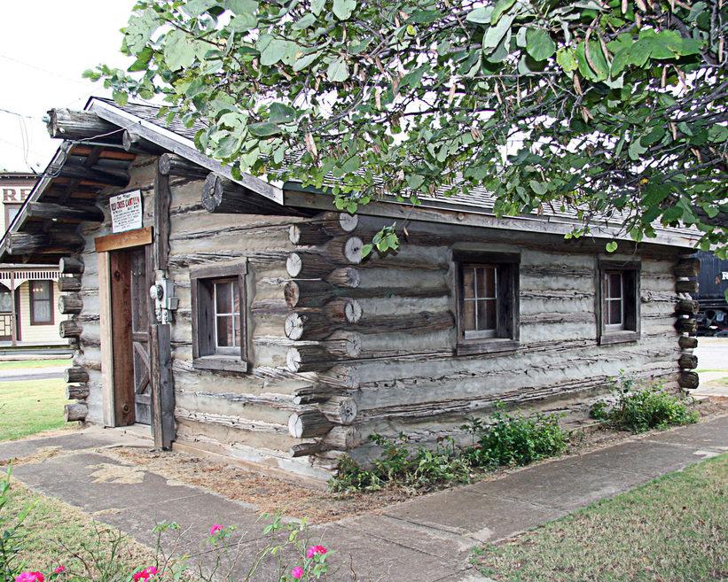 El reno ok old log cabin photo picture image Building a house in oklahoma