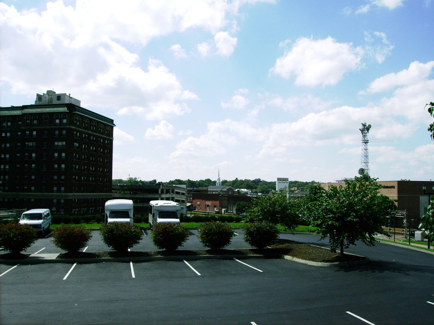 Johnson City, TN: downtown Johnson City from Munsey Church parking lot