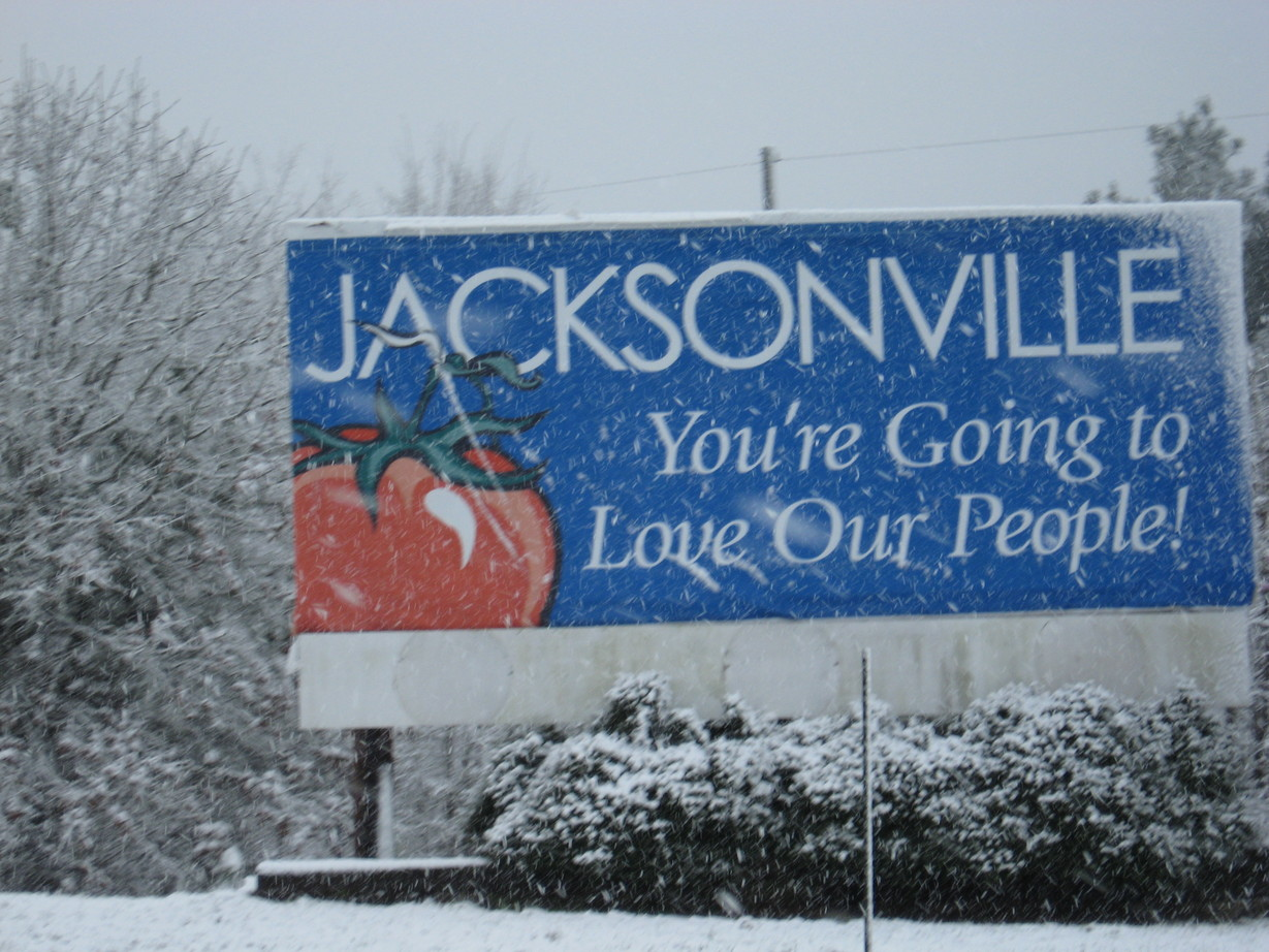 Jacksonville, TX : 03/06/2008 Late winter storm