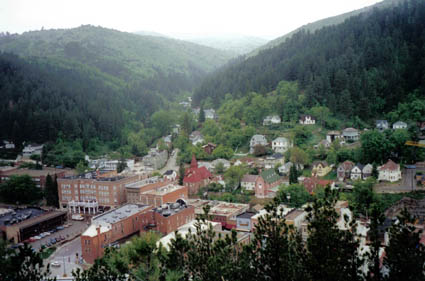 Deadwood, SD : View of Deadwood from Boothill