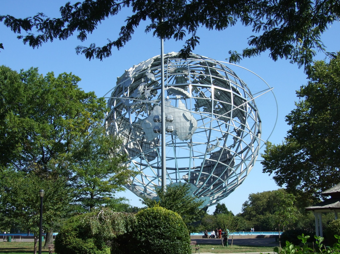 Queens, NY : Flushing Meadow Park Unisphere site of 1960's Worlds Fair