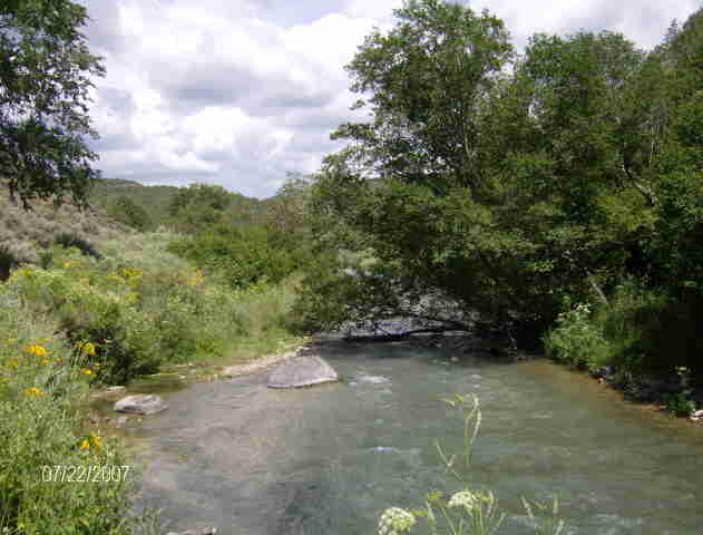 Questa, NM : Red River, S of Questa, near fish hatchery