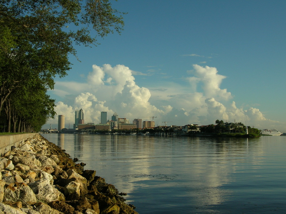 Tampa, FL: Downtown Tampa Skyline from the Hillsborough
