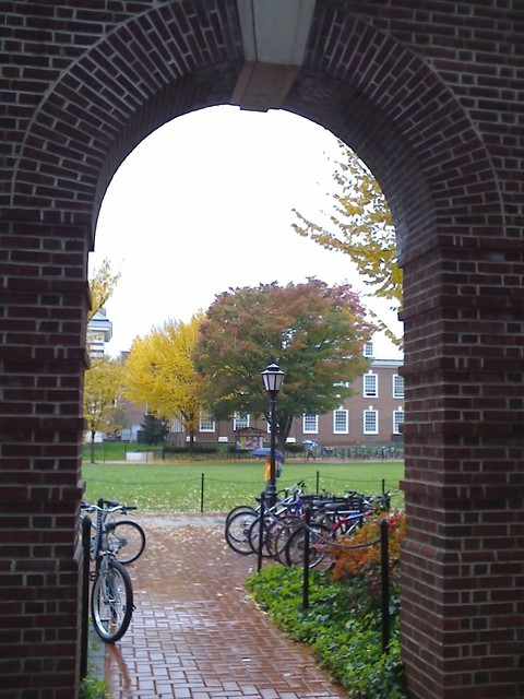 Newark, DE : Arc in the University of Delaware's oldest and newest buildings