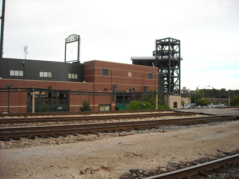 Joliet, IL : Looking at Silver Cross Field from the metra tracks.