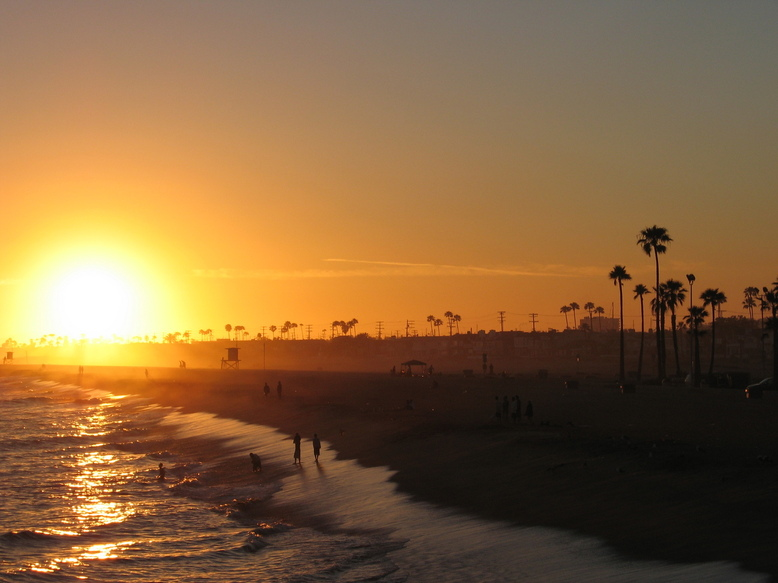 Newport Beach, CA : Sunset from the Balboa Pier