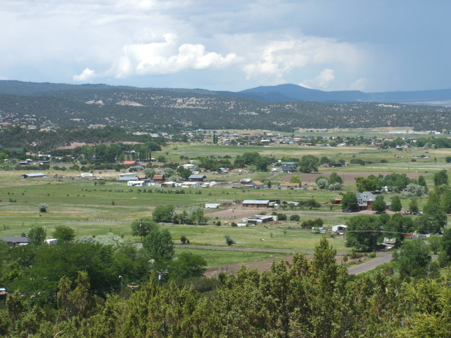 Eagar, AZ: Picture taken from the top of the Hill on 4th St.