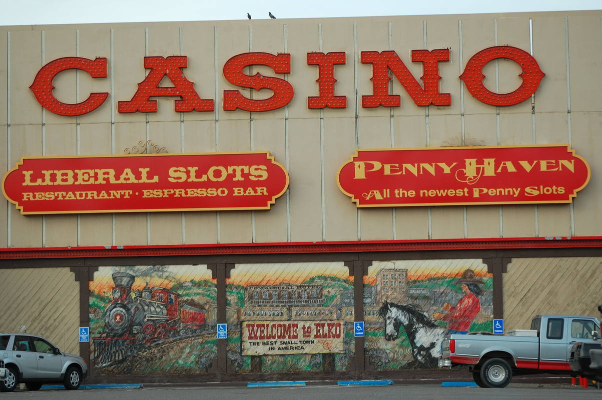 Elko, NV : a casino at downtown area