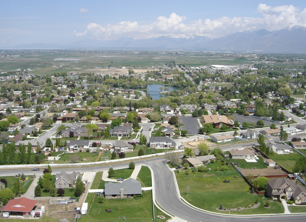 Salem, UT : Salem Utah taken from a Radio Control airplane by www.PlaneInsaneRC.com