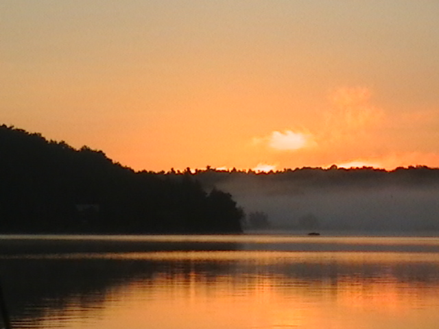 Redwood, NY: Sunrise On Butterfield Lake, Redwood, NY