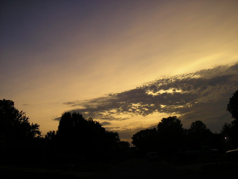 Edmond, OK : Sunset 8-18-08