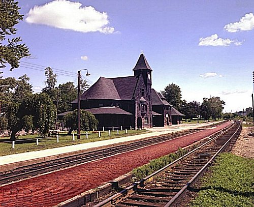 Niles, MI: Niles Depot taken in 1976 by Roger Rieman in Niles, Michigan