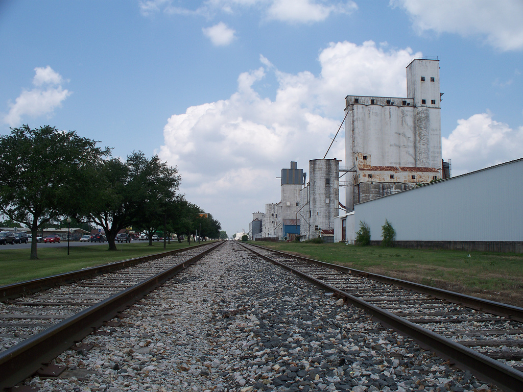 Katy, TX : MKT railroad running along Hwy 90 in downtown ... Katy Texas