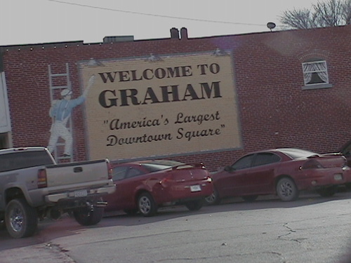 Graham, TX : Graham Largest Downtown Square