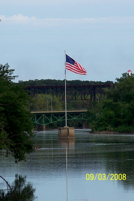 Fort Dodge, IA: River Flag on sunning day