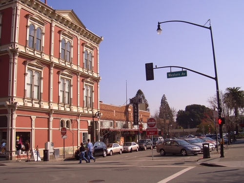 Petaluma, CA: Corner of Western & Kentucky in Petaluma, CA.