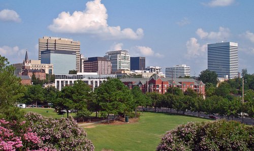 Columbia, SC : Skyline of downtown Columbia from Governor's Hill