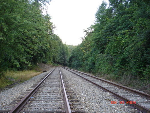 Saluda, NC : Beginning of the Saluda Railroad Mountain Grade