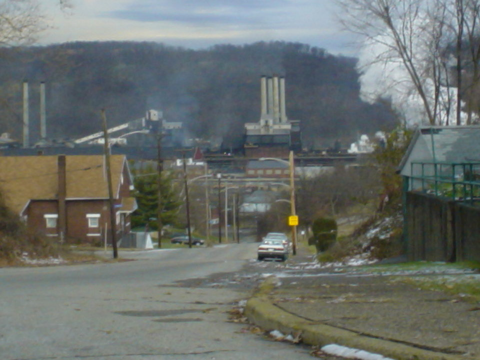 Clairton, PA: View of Clairton coke works from atop Maple Ave.