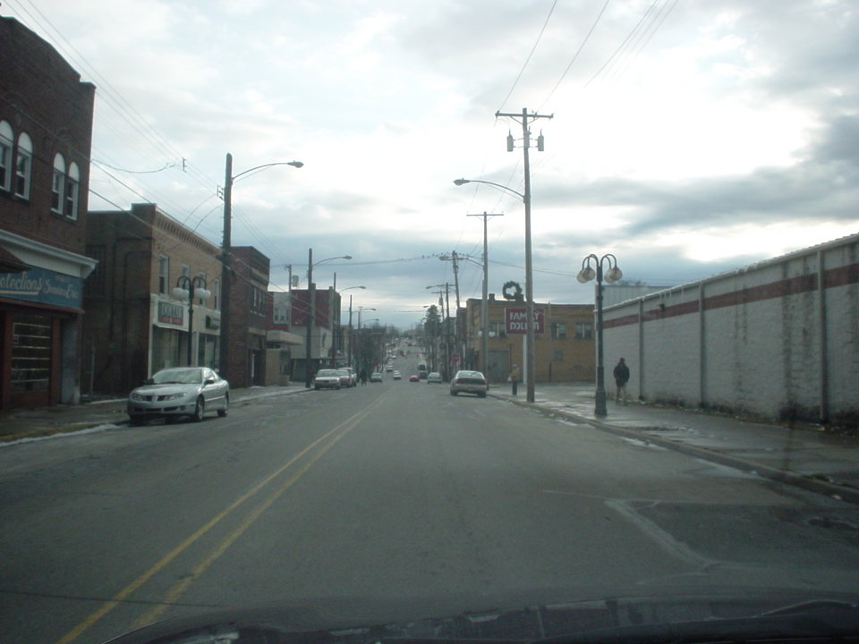 Clairton, PA : View of main business district from the opposite direction on Miller Ave.