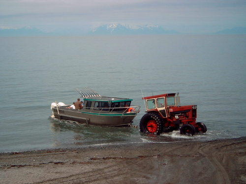 Anchor Point, AK: boat launch at mouth of anchor river
