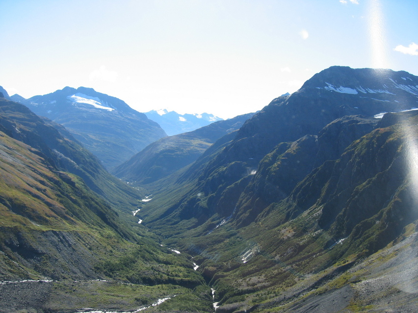 Valdez, AK : mineral creek behind city of valdez