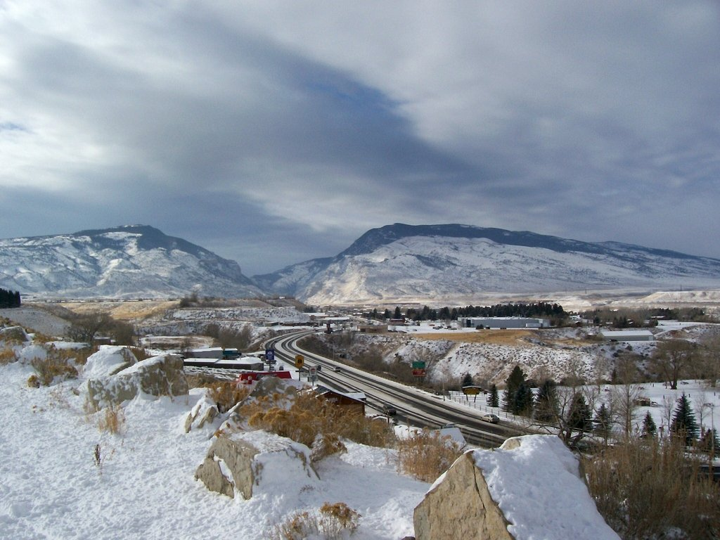 Cody, WY : Cody, WY Looking West to Buffalo Bill Dam