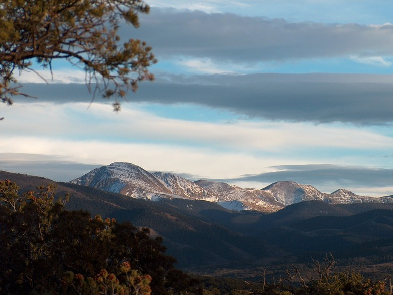 Fort Garland, CO : Trinchera Mt from Sangre de Christo Ranches