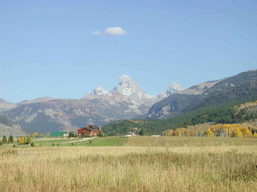 Alta, WY: Tetons from Rear Deck 360 Targhee Towne Rd