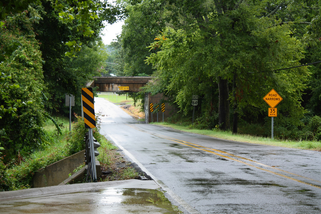 Pottsville, AR: Highway 247 railroad underpass