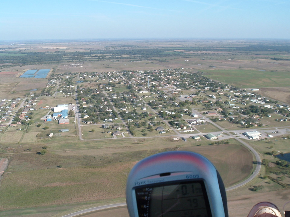 Geronimo, OK: Geronimo as seen from a hang glider
