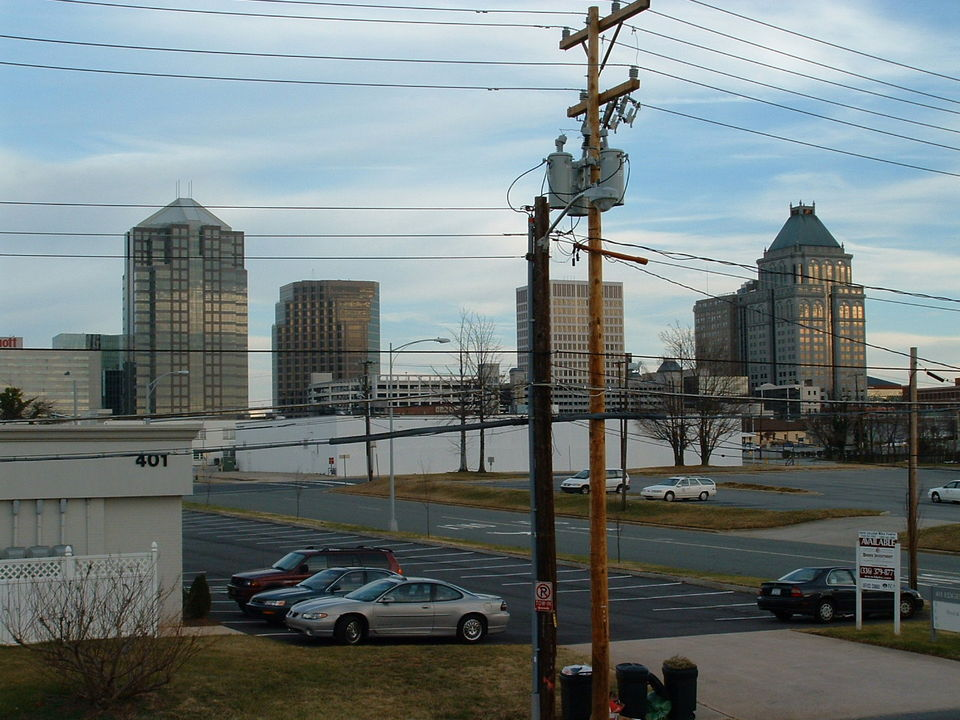 Greensboro, NC : Downtown Greensboro on New Years Day, 2004