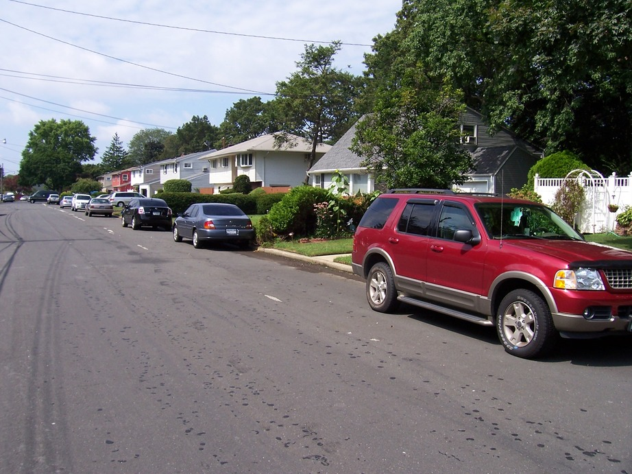 North Babylon, NY : Houses along Davis Street, August 30, 2009.