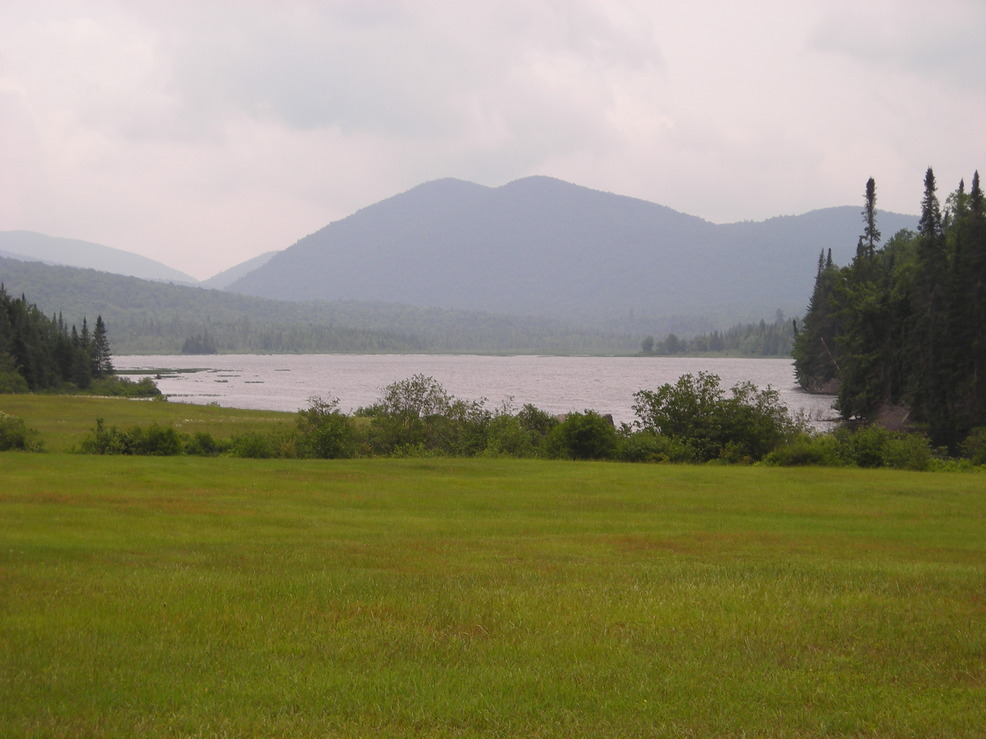 Indian Lake, NY : view of humphrey mountain from kings flow parking area