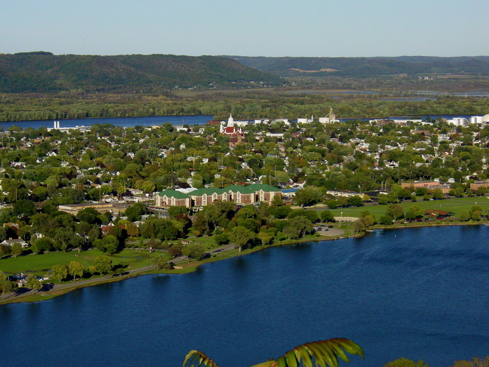 Winona, MN: Winona From Atop The Bluffs